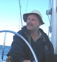 Christian Jacqz on a boat - recipient of the 2008 Peter S. Thacher Award at the Fall NEARC Conference
