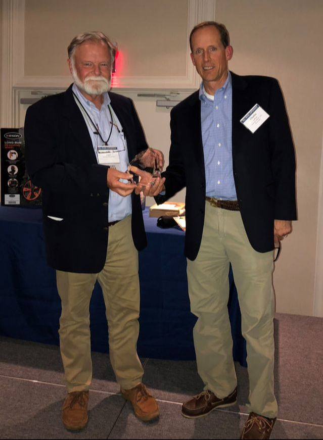 David Weaver accepting the Peter S. Thacher Award during the 2016 Fall NEARC Conference